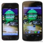 Google Nexus 4 Phone vs Apple iPhone 5